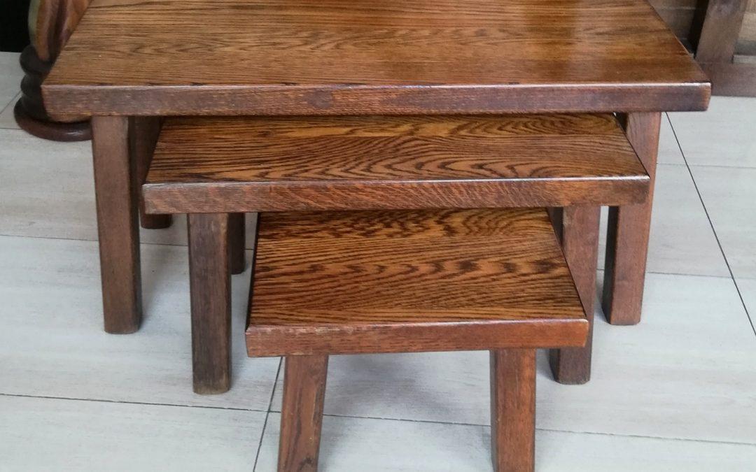 Set de mesitas en madera de roble [1920005]