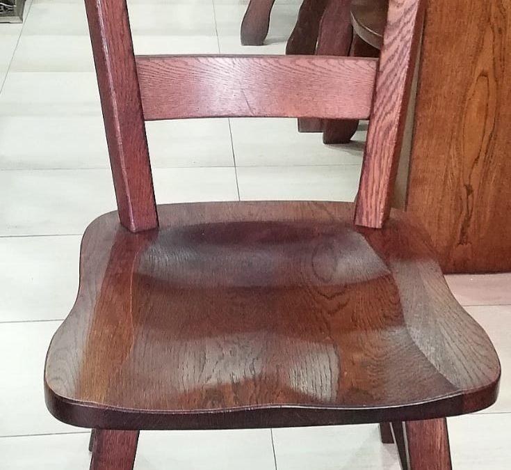 Conjunto de 6 sillas anatómicas de roble [1920011]